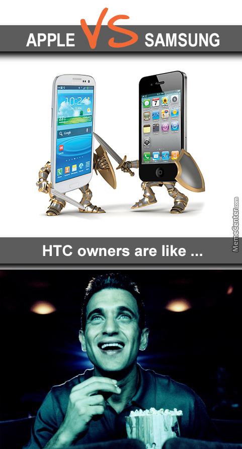 Samsung Vs Apple ... Htc Owners Enjoy The Show.