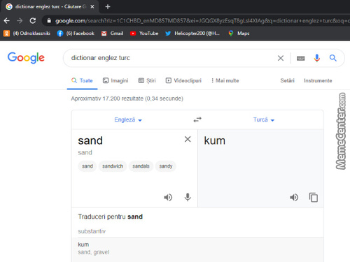 Sand In Turkish Lol