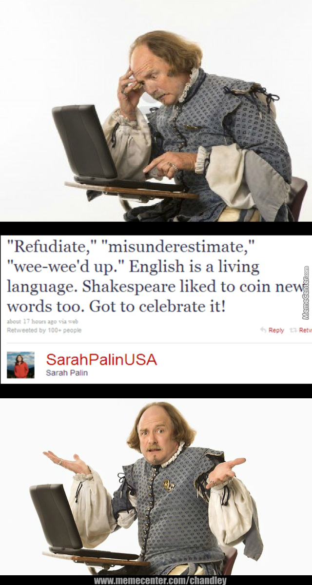 Sarah Palin Used Mindless Jabber, Shakespeare Is Confused!