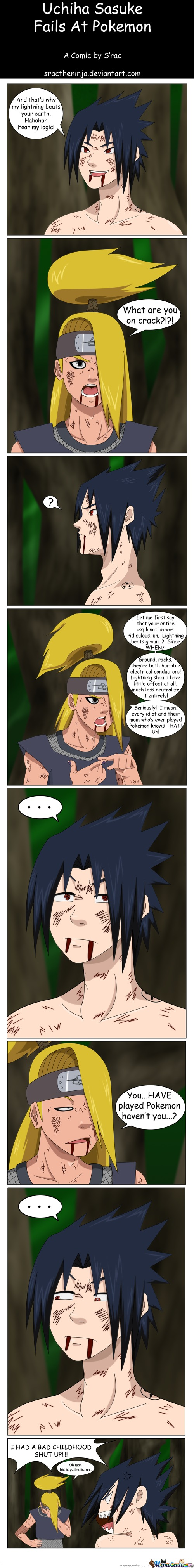 Sasuke Fails At Pokemon- By Sractheninja