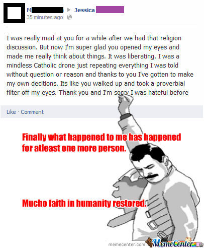 Saw This From Someone Who Had Tried To Argue Against One Of My Atheism Memes.