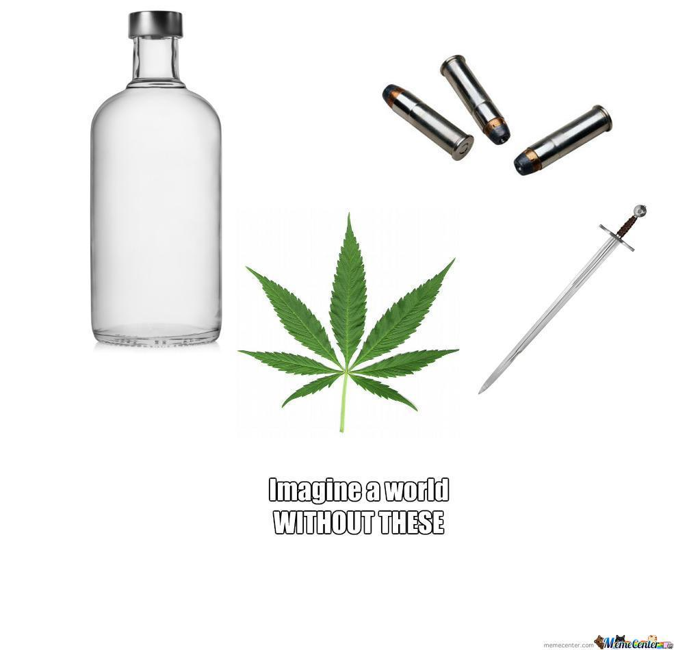 Say No To Alcohol Violence Drugs By Leatlucian Meme Center