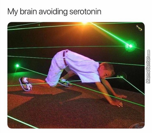 Serotonin Memes. Best Collection of Funny Serotonin Pictures