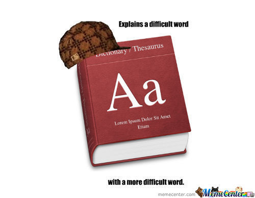 Scumbag Dictionary