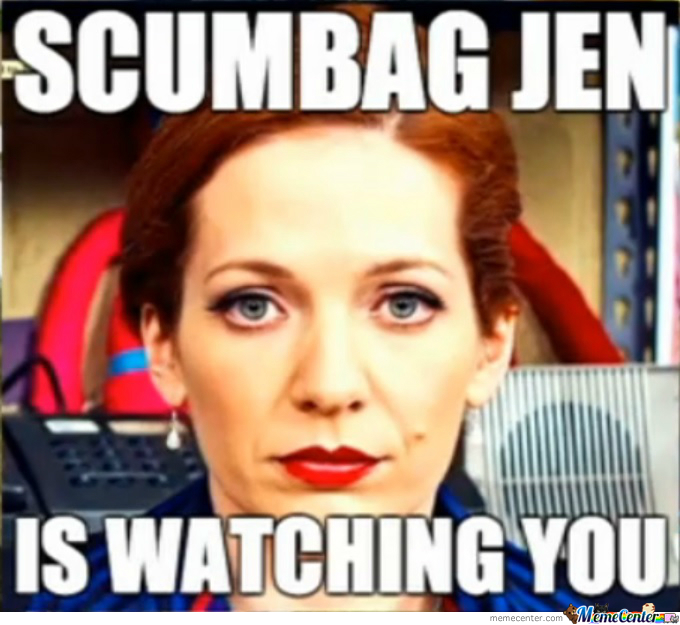 scumbag jen coffee tramp toss bitch from it crowd_o_2275623 scumbag jen (coffee tramp toss bitch) from it crowd by squiddygamer