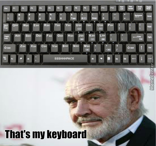 Sean Connery's Keyboard