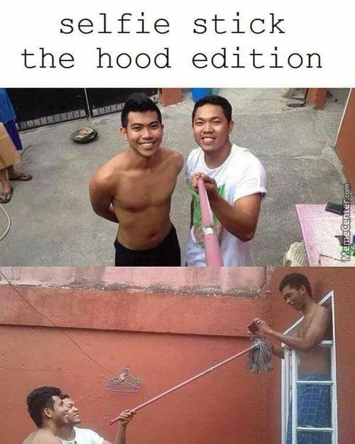Selfie Stick The Hood Edition!!