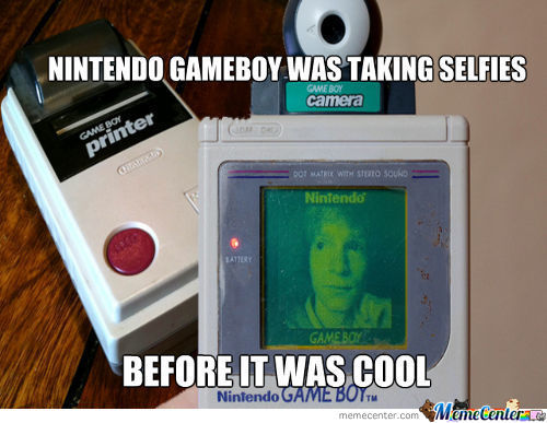 Selfies With Nintendo Gameboy