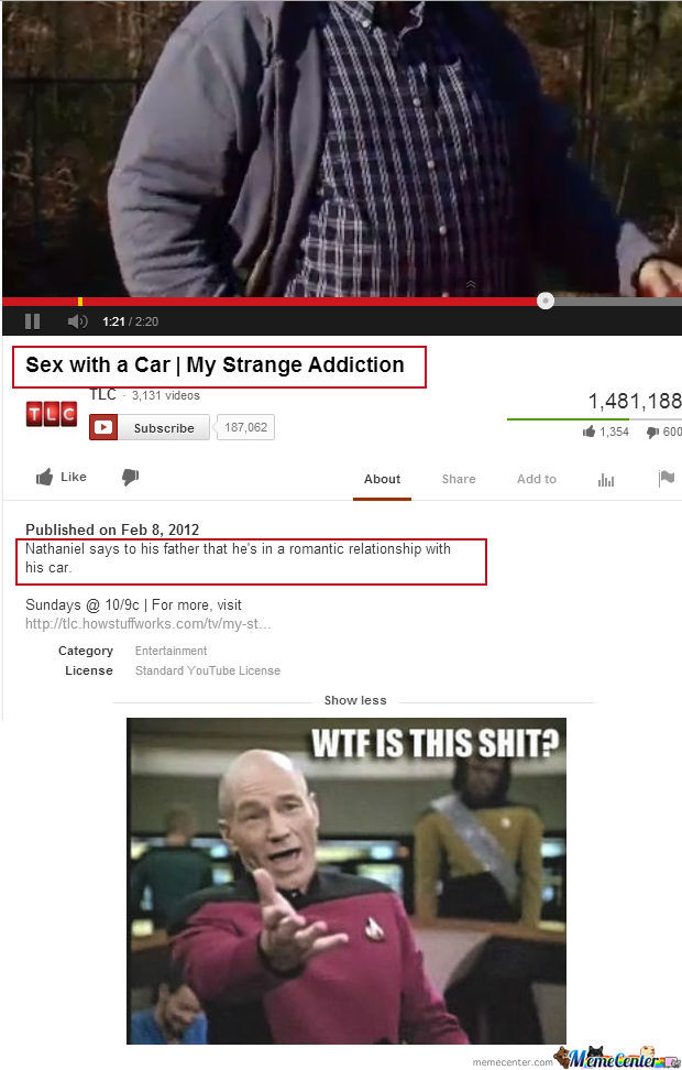 Sex With His Car???????