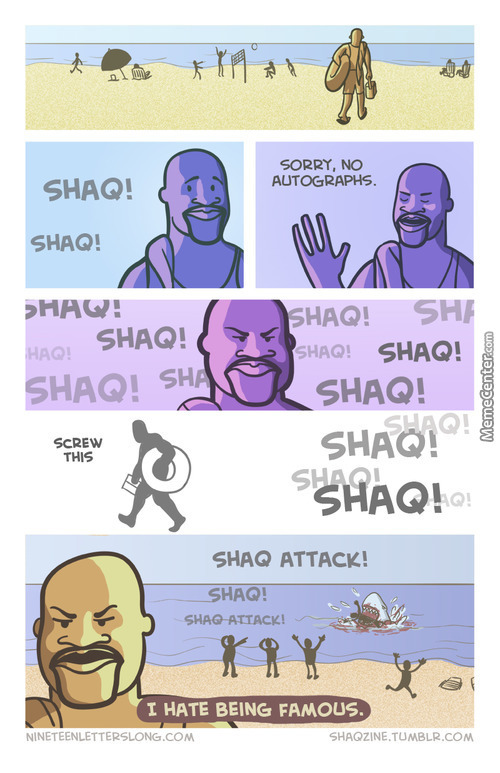 Shaq Visits The Beach