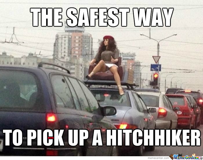 Funny Hiking Meme : Hitchhiker memes. best collection of funny hitchhiker pictures