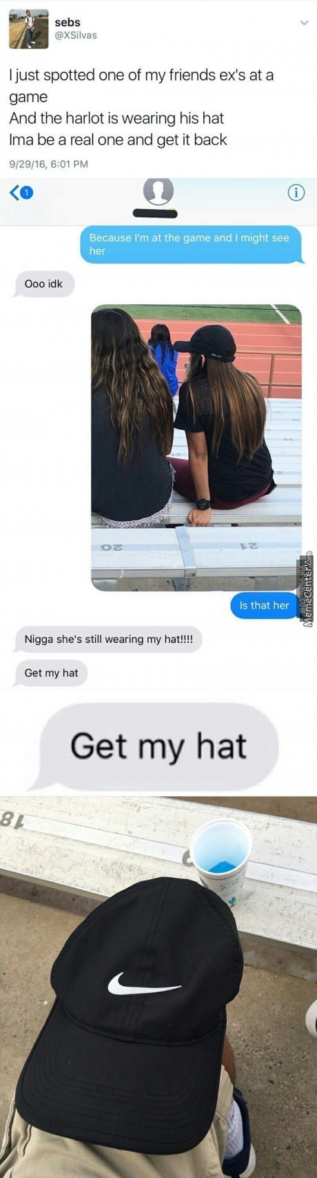 She Probably Just Wanted The Hat In The First Place