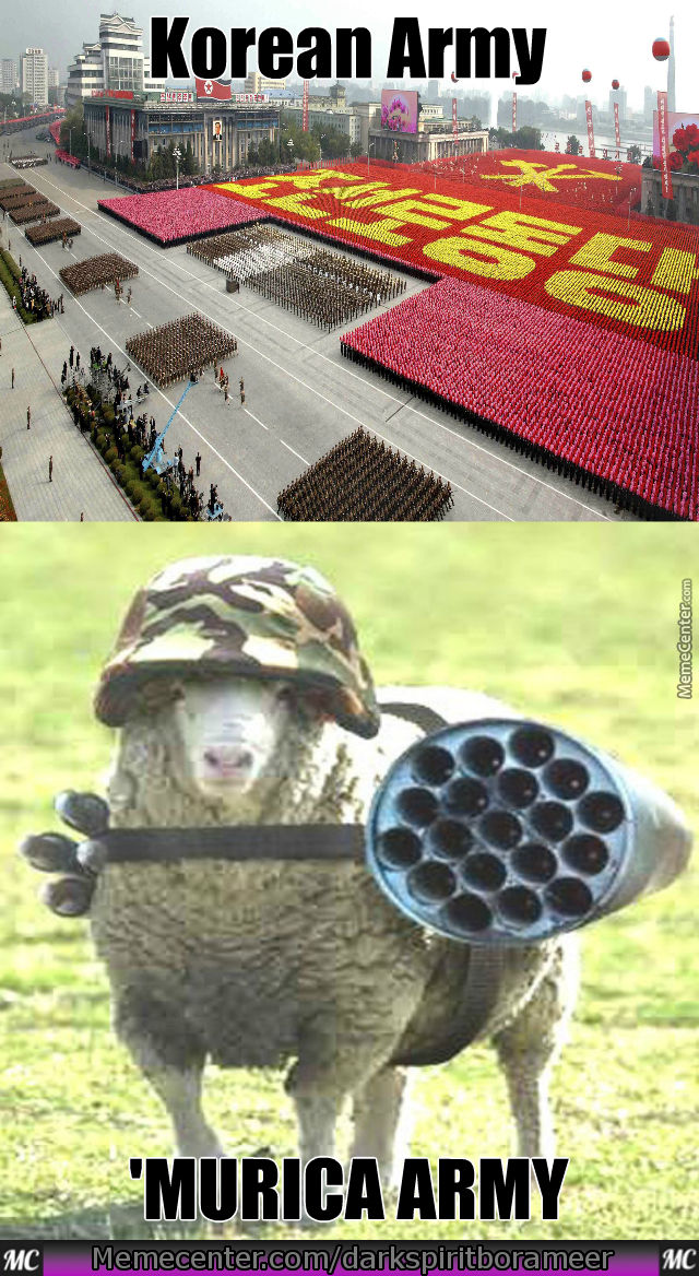 sheep with guns sounds pretty accurate by darkspiritborameer meme