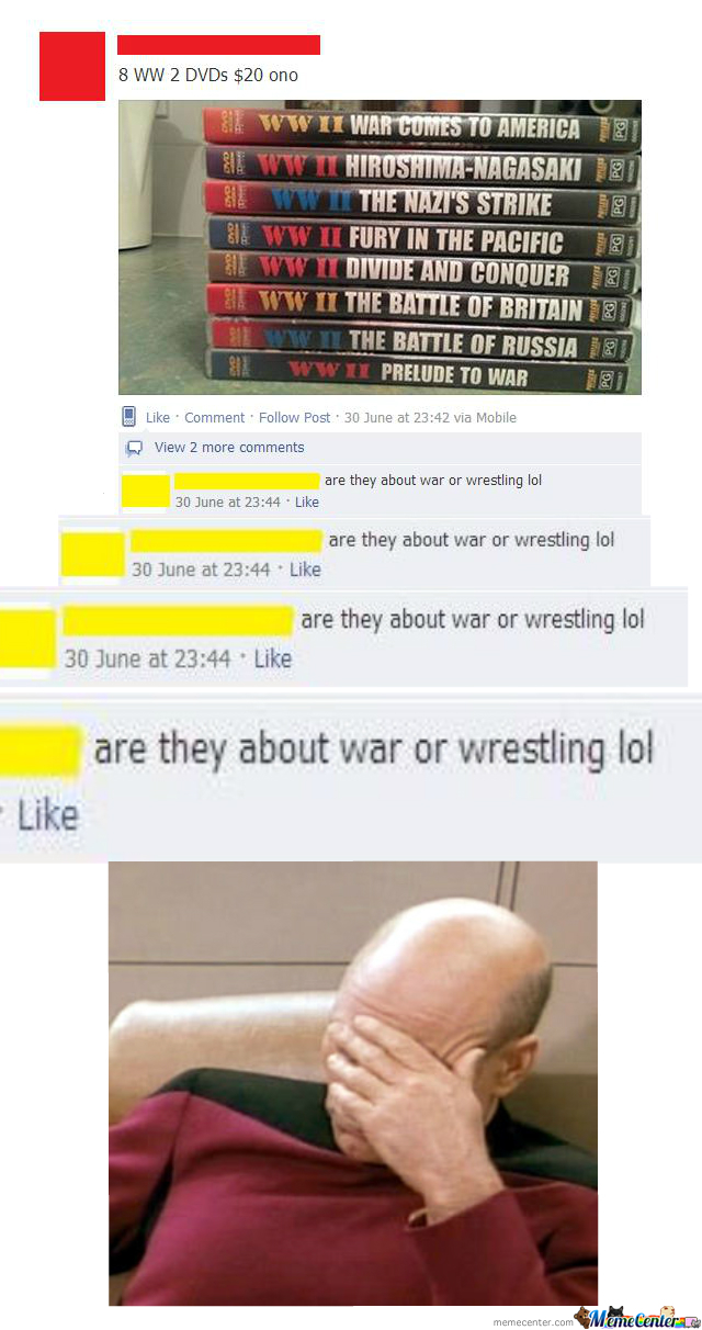 Shit People Say On Facebook.