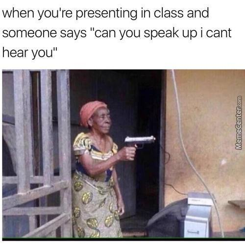 Shut The F**k Up And Let Me Present