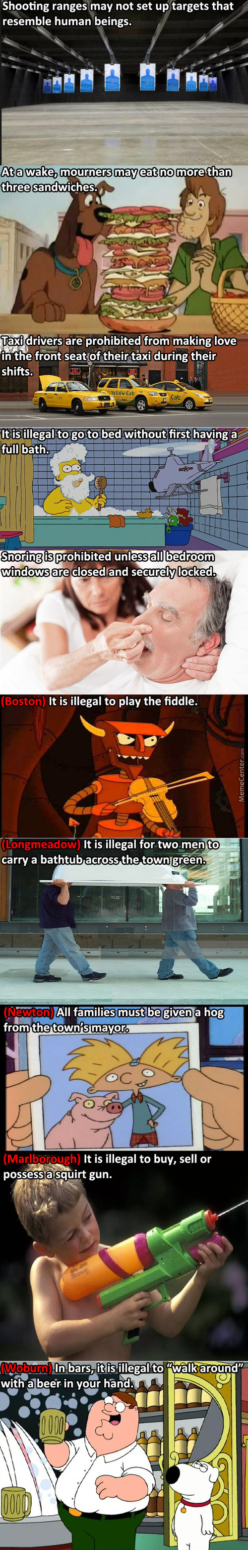 Silly Laws Massachusetts