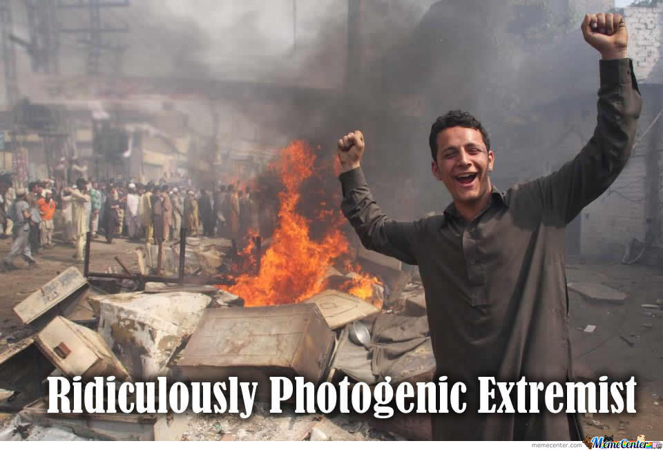 Since When Extremists Can't Be Photogenic?