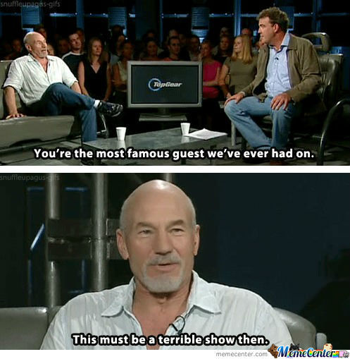 Sir Patrick Stewart On Top Gear