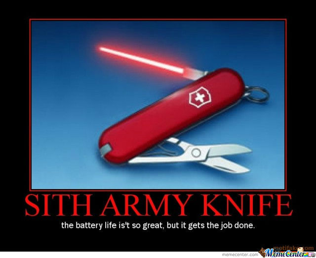 Sith Army Knife By Harrysmemes Meme Center