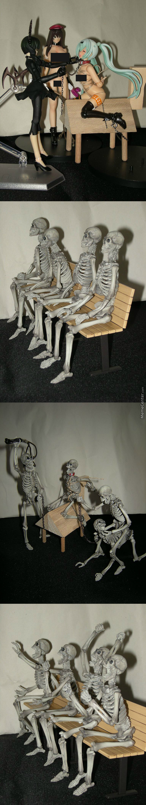 Skeletons Cant Have Boners..sigh But If U Play With Their Bone Juices They Can Get Spikers That Go In Ur Butt O﹃O)ノ