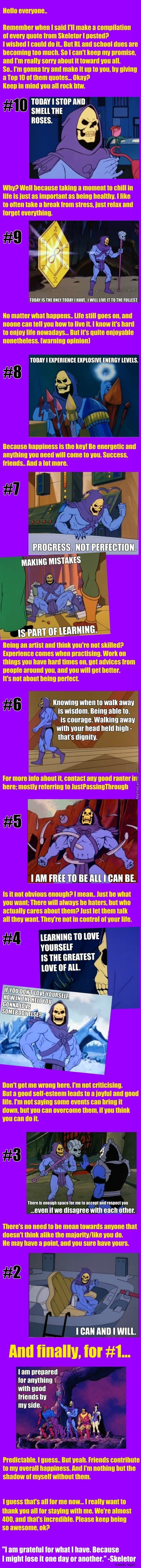 Skeletor Quote Of The Day, #100 And Also Top 10. ( Thank You )