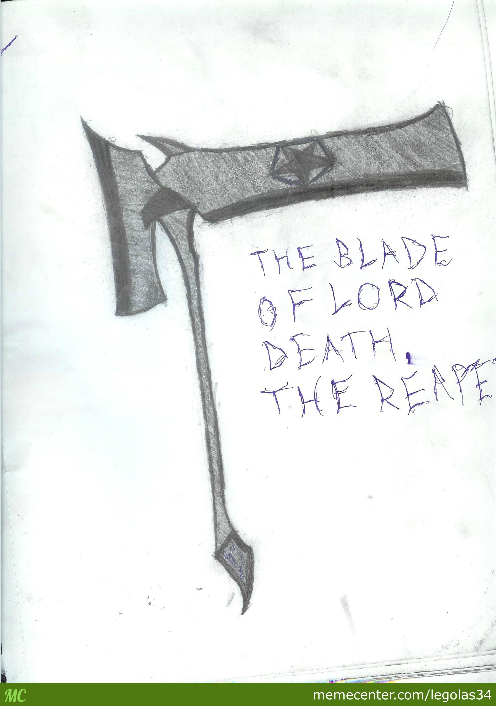 Sketch 3, How I Picture The Scythe That The Reaper Would Wield