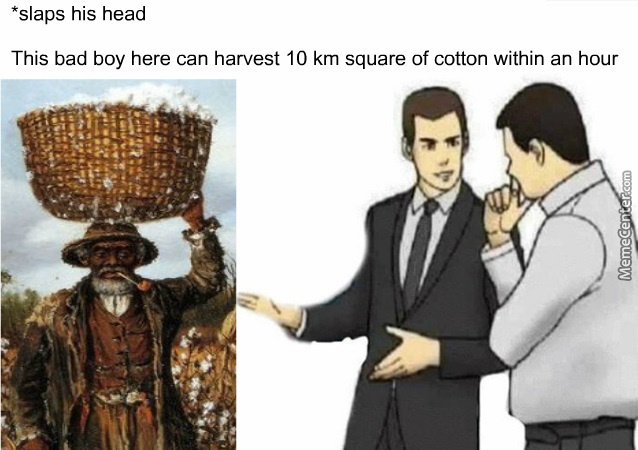 Slap His Head Twice For Overdrive Mode To Harvest More Cotton