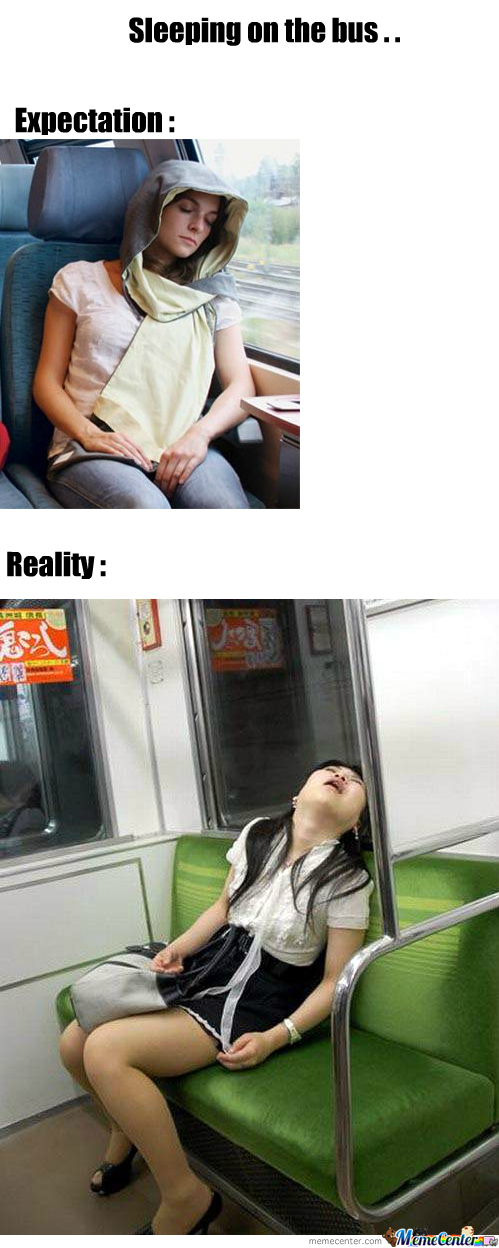 Sleeping On The Bus . . .
