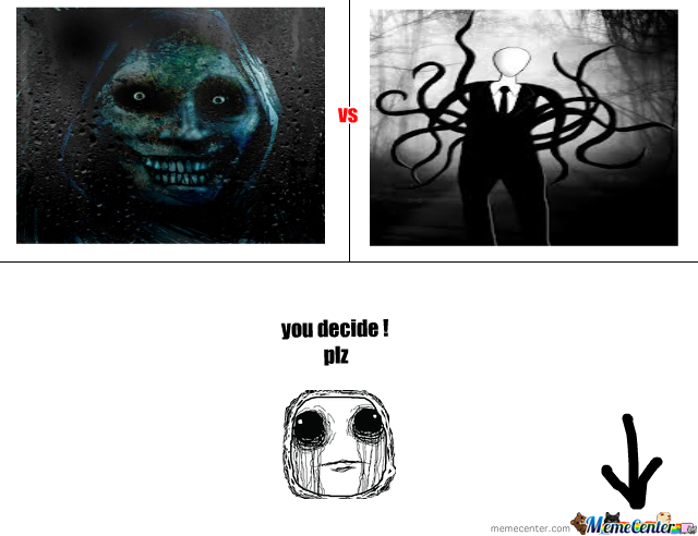 slender man vs unwanted house guest by dhia1sahl meme center rh memecenter com
