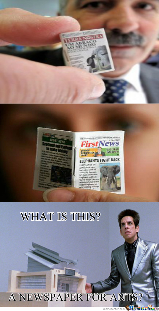 Smallest Newspaper