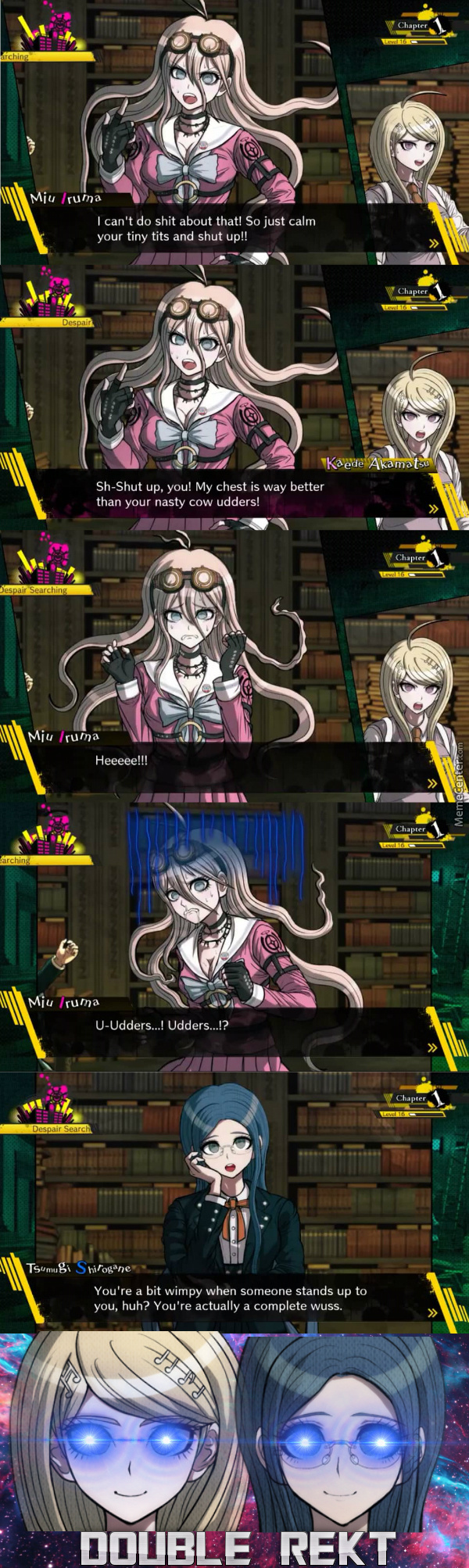 Smoogs And Kayday Got No Chill  :l (Game: Danganronpa V3) by