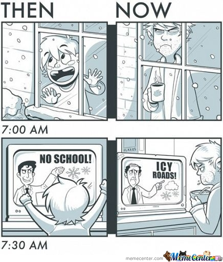 Snow Days (Then And Now)