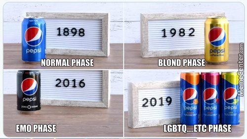 So, Apparently Pepsi Is Celebrating Their Changes Over The Years