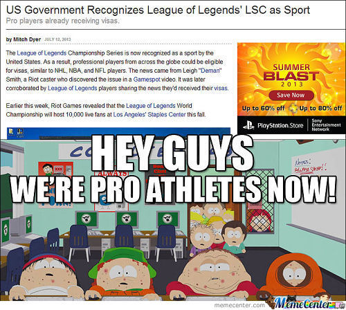 So Does That Mean Evo Is The New Olympics...?