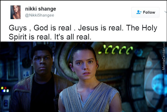 So God Was Satan's Apprentice, Magdalene Jesus' Sister, Saint Peter Was Han Solo, Kylo Judas And The Mages Obi-Wan Split Into Three?
