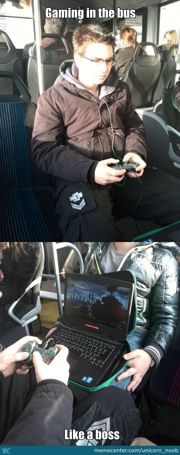 So I Decided To Play Games In The Bus..