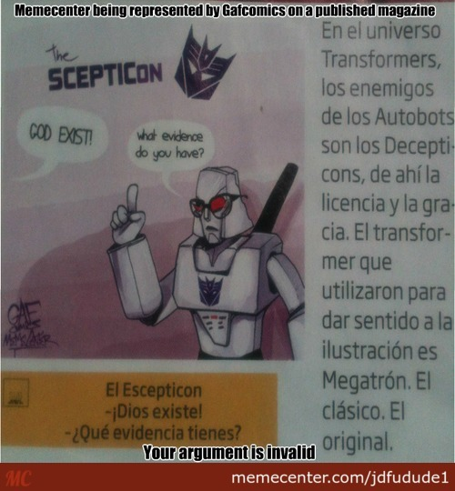 So I Found One Of Gafcomics' Posts On A Magazine Called Conozca Mas