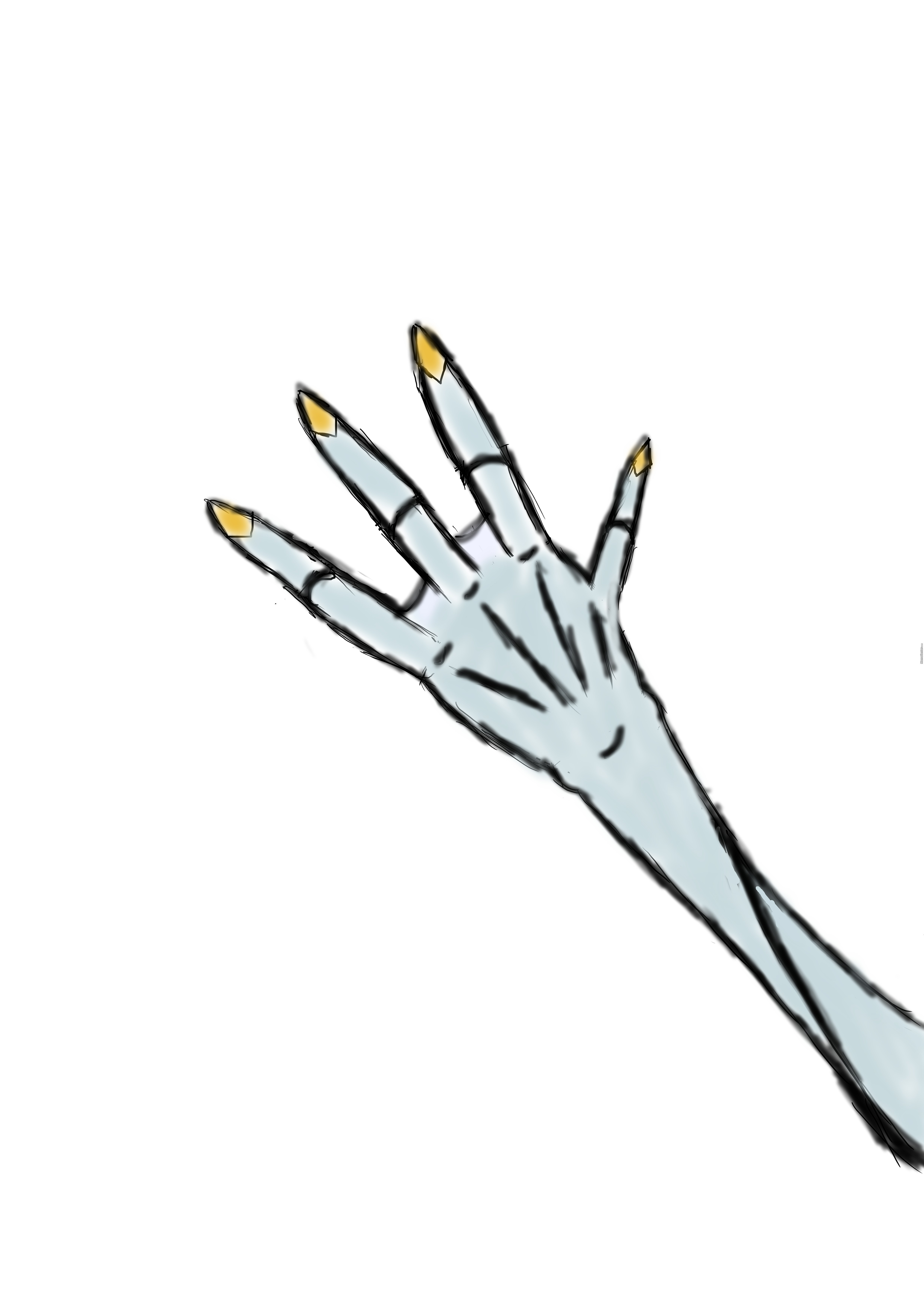So I Made An Tried To Draw An Alien Hand By Recyclebin