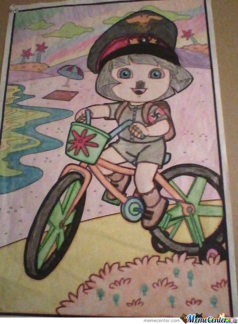 So Me And My 5 Y/o Sister Colored A Picture Of Dora