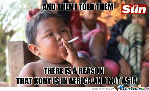 So That's Why Kony Isn't In Asia