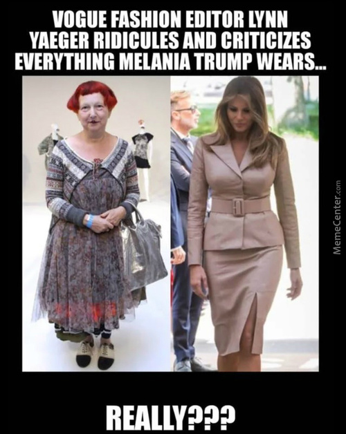 So The Scarecrow On The Left Is Trumps Wife, Yes?