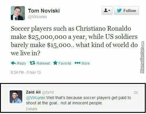 Soccer Players Vs Us Soldiers