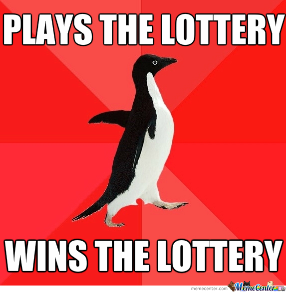 Socially Awesome Penguin Plays The Lottery