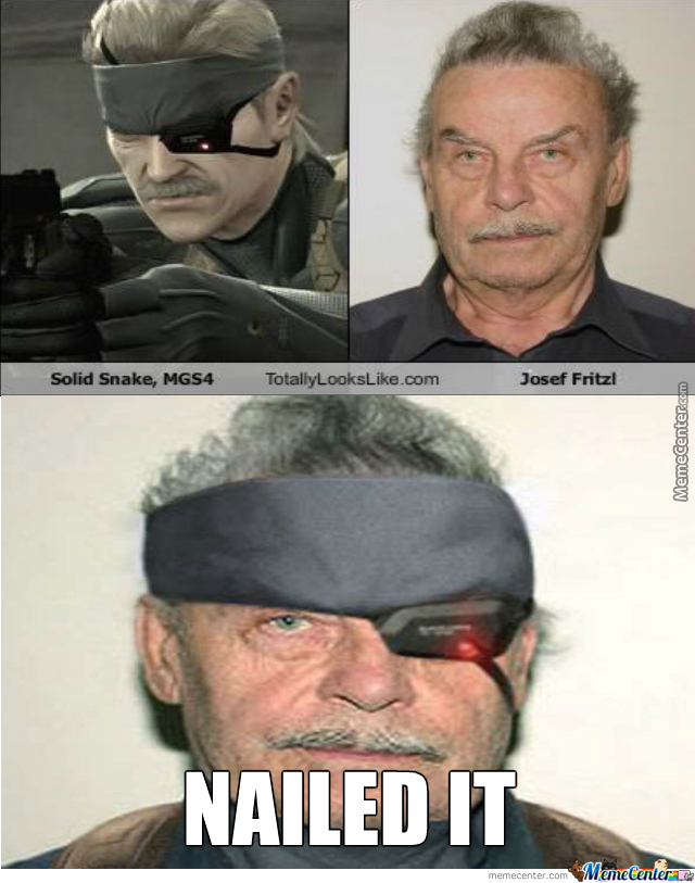Solid Snake In Real Life By Thunderfire Meme Center