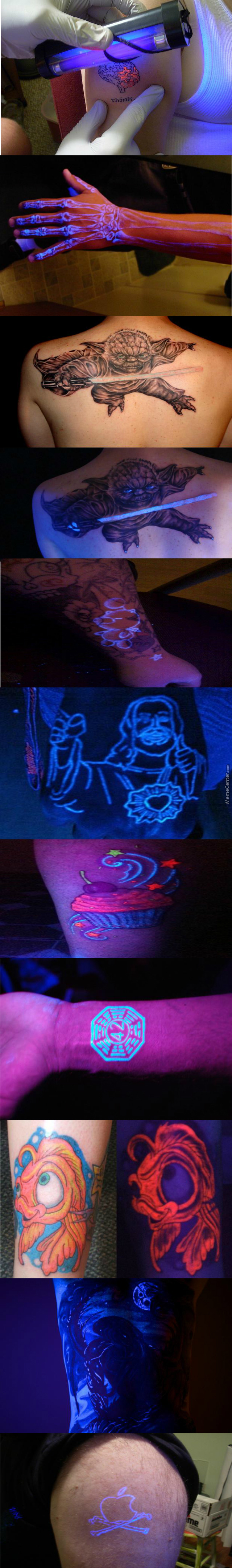 Some Awesome Uv Light Tattoos (Exept For The Last One)