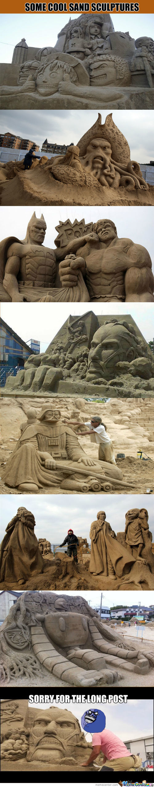 Some Cool Sand Sculptures