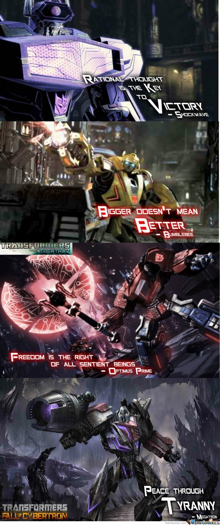 Some Cool Transformers Game Quotes By Severonus Meme Center