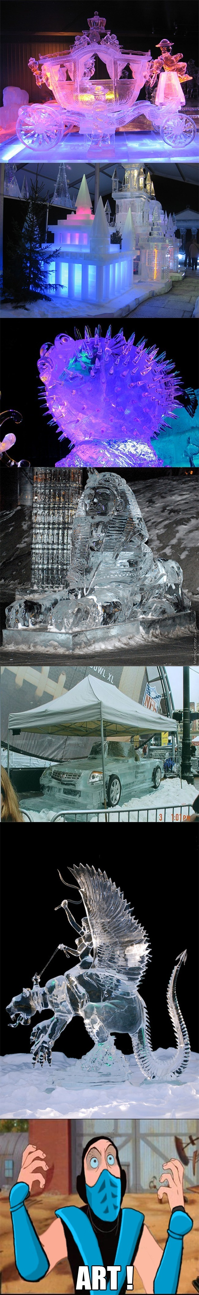 Some Of The Coolest Ice Arts I've Seen