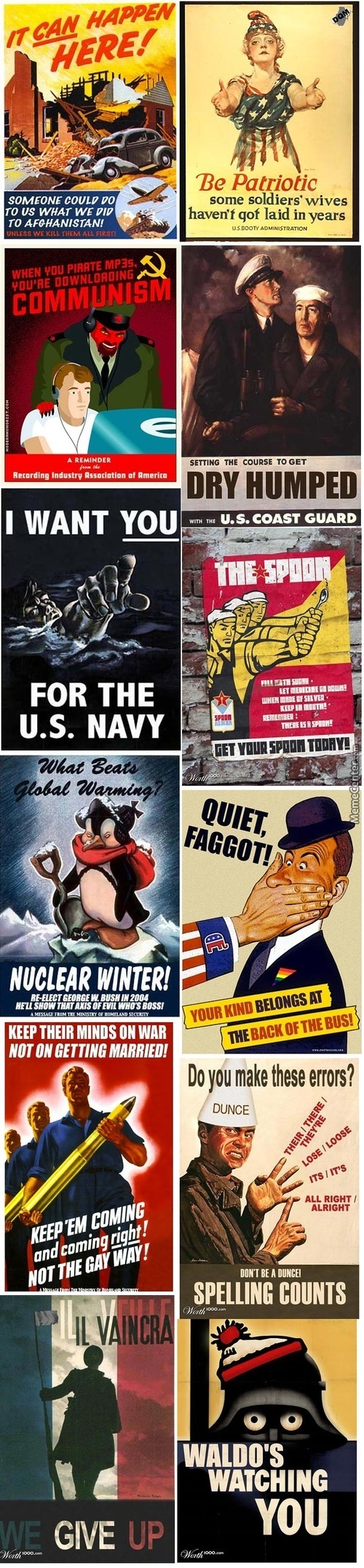 Some Of The Coolest Propaganda Parodies. Long Post Ahead