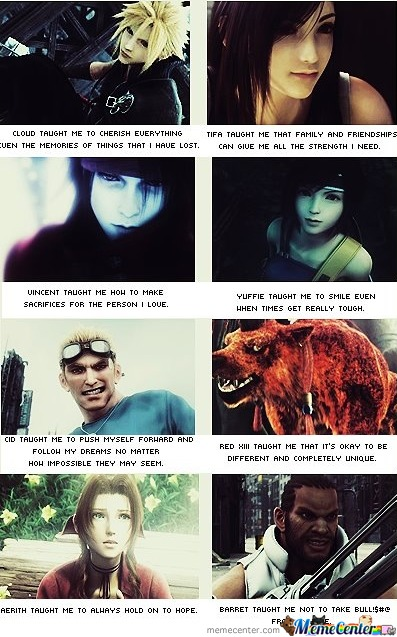 Some Of What Ff7 Taught Me.